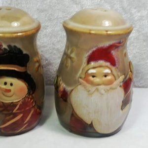 Unbranded Holiday - Set of 2 Salt Pepper Shakers Santa Snowman XMAS